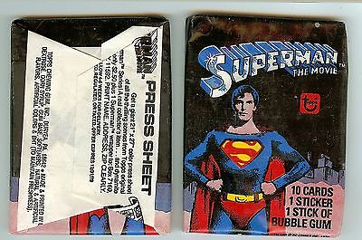 1978 Topps Superman the Movie 1st series  single Wax Pack