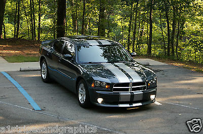 "All Year Dodge Charger 10"" Twin Rally Stripe Set Stripes Decal Decals Graphics"