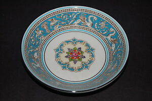 Wedgwood Florentine Turquoise Fruit Dessert Bowl - Set of 4 ~ MINT!