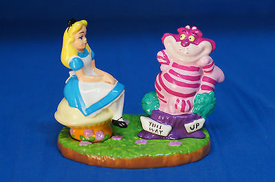 Alice Wonderland & Cheshire Cat Ceramic Salt Pepper Shaker Set Disney LE500 S&P