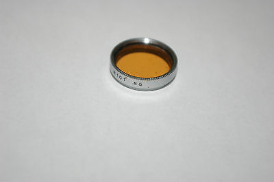 85 Amber Chrome Filter For Leica 50mm F3.5 Elmar Lens & Argus C3 Camera