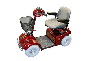 ROMA MEDICAL SOVEREIGN 4 DELUXE SHOPRIDER RED MOBILITY SCOOTER