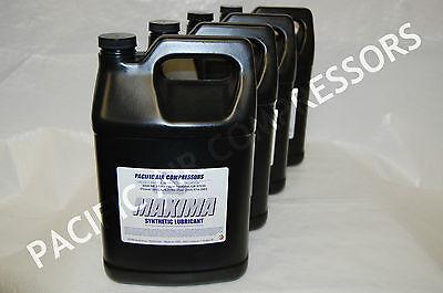4 Pack 1 Gallon Maxima Synthetic Lubricant Compressor Oil Air Compressor Parts