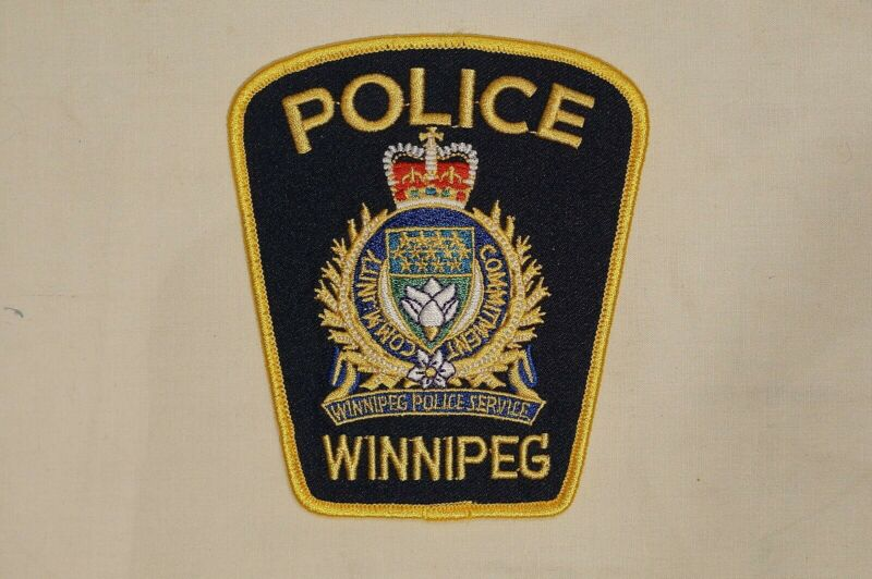 Canadian Manitoba Winnipeg Police Service Navy Blue Patch 2