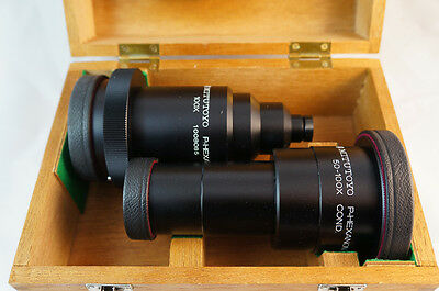 Mitutoyo 100x Optical Comparator Profile Projector Lens Set New Stock In Box
