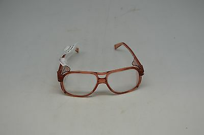American Optical Red Clear Safety Glasses 8758 Lens 58 Bridge 17. Steampunk Usa