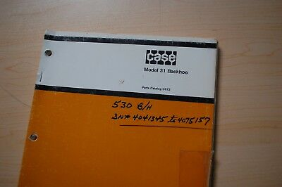 Case 530 540 310d 310e 310f Tractor Crawler 31 Backhoe Parts Manual Book Catalog