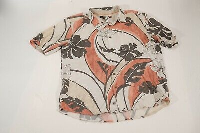 Quiksilver Waterman Edition short sleeve hawaian shirt mens size XL floral
