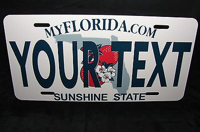 FLORIDA STATE METAL NOVELTY LICENSE PLATE FOR CARS YOUR TEXT CUSTOMIZE (State Metal License Plate)