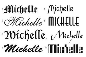 PERSONALISED TEMPORARY TATTOO -  YOUR NAME OR MESSAGE IDEAL PARTIES HEN STAG