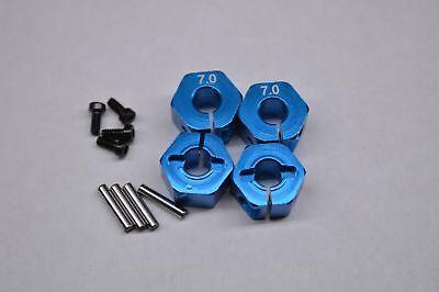 7mm Front & Rear Blue Billet Aluminum 12mm Hex Wheel Hub Traxxas Stampede 4X4