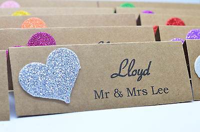 20x PERSONALISED TABLE NAME PLACE CARDS WEDDING BIRTHDAY RUSTIC VINTAGE HANDMADE](Rustic Place Cards)
