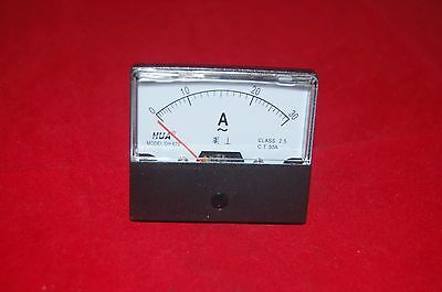 1pc Ac 0-30a Analog Ammeter Panel Amp Current Meter 6070mm No Need Shunt