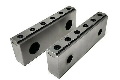 Pro Cnc Milling Steel Vise Hard Jaw 6 Wide Serrated Replaceable 0.100 Steps