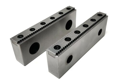 "Pro CNC Milling Steel Vise Hard Jaw 6"" Wide Serrated / Replaceable 0.100"" Steps"