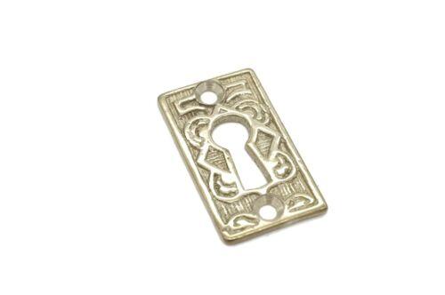 "1 3/4"" Keyhole Cover Plate Escutcheon Eastlake Key Hole Cover Brass Lock Plate"