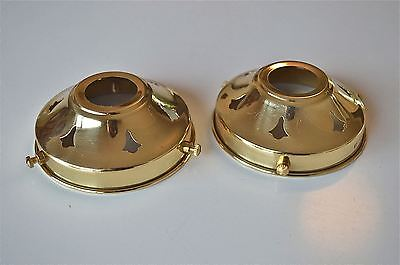 PAIR OF ANTIQUE STYLE BRASS GLASS LIGHT SHADE GALLERY 3 1/4 INCH LAMP SHADE NR3