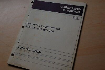 Lincoln Welder Perkins 4.236 Diesel Industrial Engine Parts Manual Book Catalog