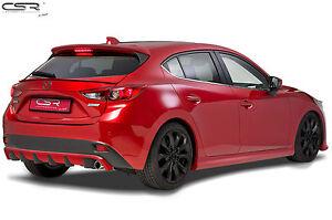 Heckschürze Heckansatz Diffusor für Mazda 3 Typ BM HA153 Tuning