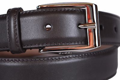 9711b56a7ca New Gucci Mens Dark Brown Leather Belt with Classic Square Buckle 336831  100 40