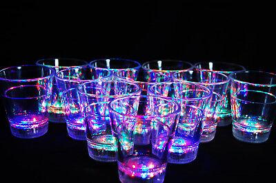 Led Shot Glasses (Set of 12 Light Up MultiColor LED Shot Glasses- Fast USA)