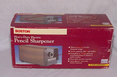 Hunt Boston Heavy-duty Electric Pencil Sharpener Model 17 1700 Black Made In Usa