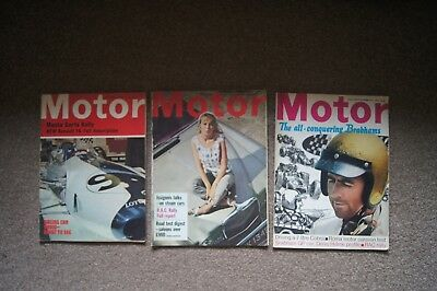 3 MOTOR Magazines RAC Rally Reports 1967 Monte Carlo Rally 1965 Renault 16 Test