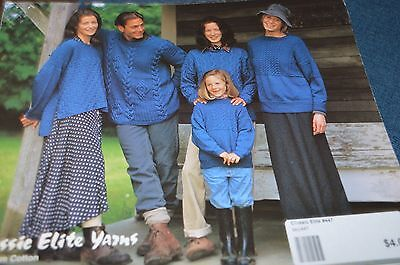 - Classic Elite Knitting Pattern 447 Denim Cotton