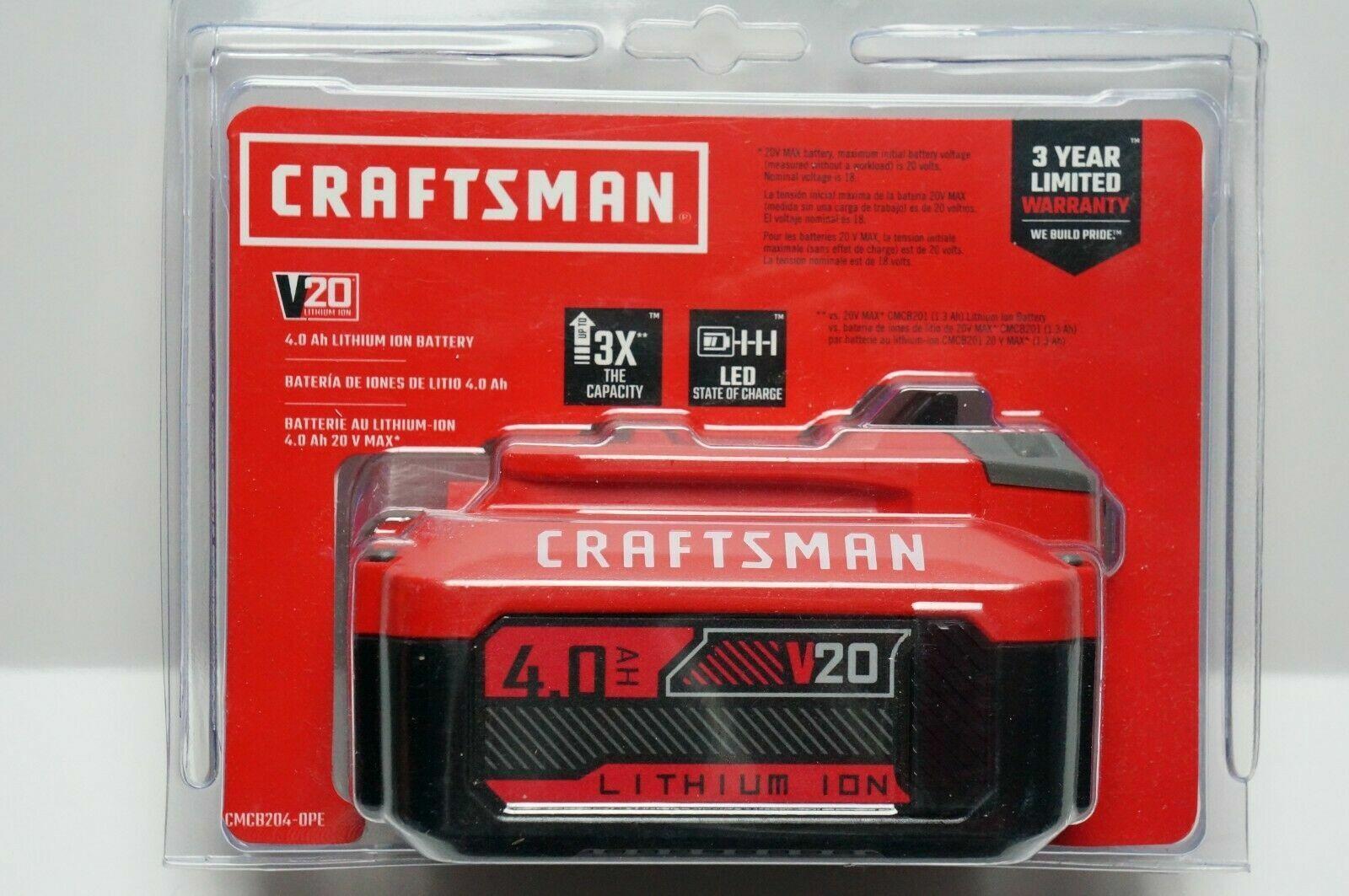 CRAFTSMAN CMCB204 20-Volt Max 4-Amp-Hours Lithium Power Tool