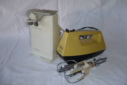 Sunbeam hand held beater and Sunbeam Electric Can opener Wavell Heights Brisbane North East Preview