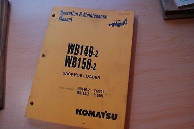 Komatsu Wb140 Wb150-2 Backhoe Loader Owner Operator Operation Manual Book Guide