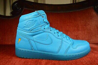 WORN 2X Nike AIR JORDAN 1 RETRO COOL BLUE GATORADE lagoon Size 10 AJ5997 455