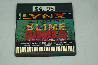 Lynx Atari Todd's Adventures In Slime World Game Only No Case