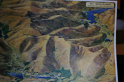 3D Aerial Panoramic A4 Fell Walking Map of Lake District No1 Unusual Gift Idea