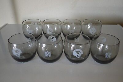 SET OF 8 VINTAGE 70s St Louis Cardinals NFL Football Smoke Rocks Glass Tumbler