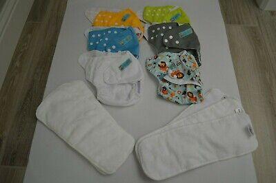 LOT OF 6 CLOTH DIAPERS ALVA BABY & MAMA KOALA, W/ INSERTS