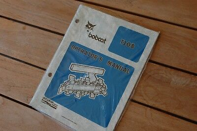Bobcat T108 Ditcher Plow Trencher User Safety Owner Operator Manual Book 1987