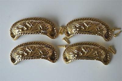 4 brass antique cup drawer handle dresser draw pull handle c/w screws 2002
