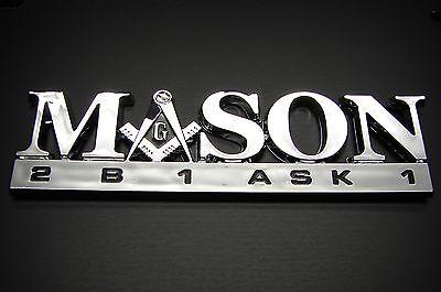 MASON FREEMASON EMBLEM LOGO DECAL STICKER FOR CARS OR ANY OTHER MULTI PURPOSE
