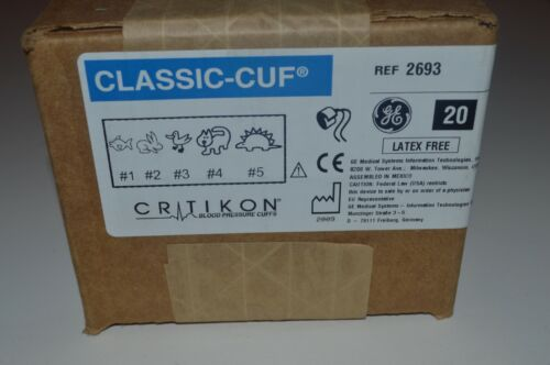 GE Medical Critikon Classic-Cuf Blood Pressure Cuffs # 2693 Neonatal, Ped