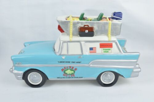 Paris Beebee Sweetz Treatz Fishing Station Wagon Ceramic Cookie Jar Master Guide
