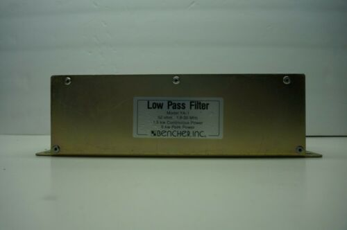 BENCHER YA-1 LOW PASS FILTER 1.8 TO 29.7 MHZ