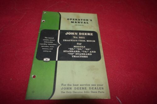 John Deere 801 Traction Trol Hitch For 50 60 70 Tractor Operator
