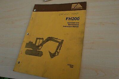 Fiat Allis Fh200 Trackhoe Crawler Excavator Owner Operator Maintenance Manual