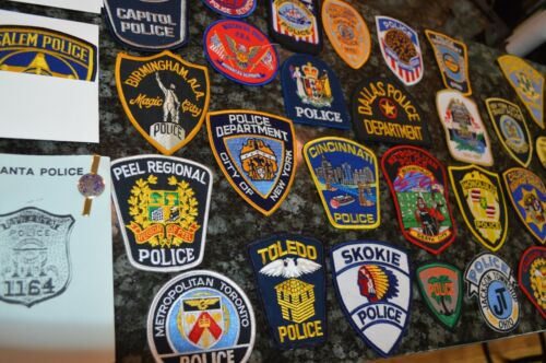 NICE POLICE PATCH LOT!!! MUST SEE!!!