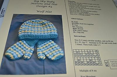 Woolen Collectibles Knitting Pattern Baby Mittens & Hat Wolf age 6-7 yrs ()