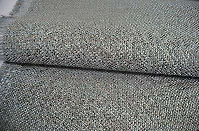 Grey Duck Egg Flat Weave Upholstery Fabric Thick