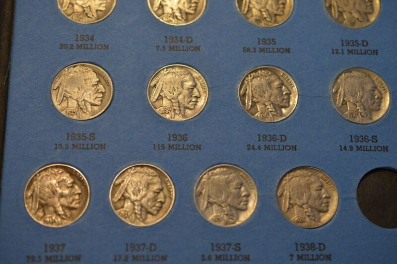 RARE BUFFALO NICKEL COLLECTION 1913-38! *4 AWESOME KEYS! *WITH KEY DATE 1931S!!!