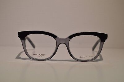 New Authentic Women's Yves Saint Laurent Black/Clear Gray Eyeglasses: SL11 2YC