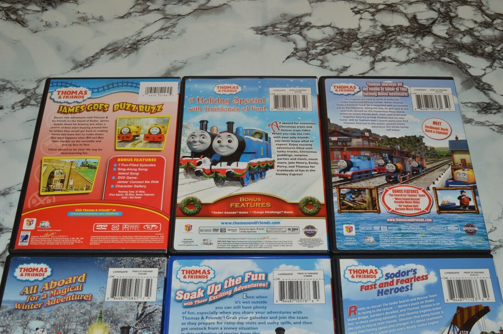 THOMAS FRIENDS DVD LOT -- Rescue On The Rails Holiday Express More - $12.68